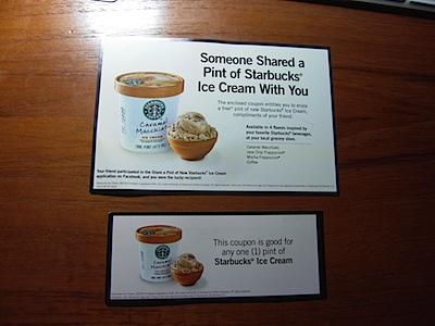 Shared Starbucks Ice Cream