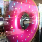 Look for the pink donut