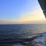 Alaskan sunset while cruising