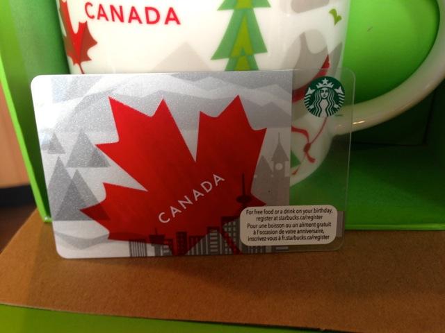 Canada SBUX card