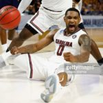 in the second half during the first round of the 2017 NCAA Men's Basketball Tournament at Bon Secours Wellness Arena on March 17, 2017 in Greenville, South Carolina.
