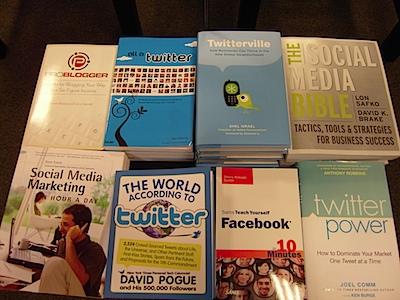 Social Media Books on Display