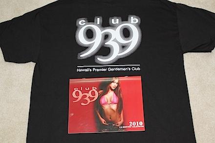 Club 939 Calendar and Shirt 2010