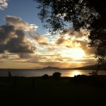 Crepuscular rays at Portlock, Hawaii Kai