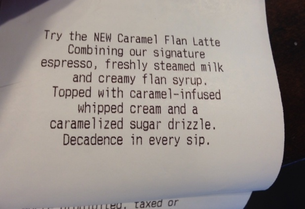What is a Caramel Flan Latte?